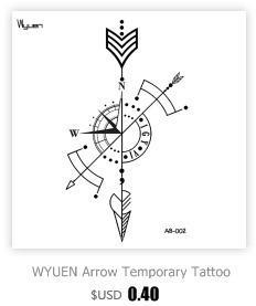 TCOOL Aquarell Eule Frauen Tätowierung Aufkleber Tattoos für Männer Mode Körperkunst Kinder Hand Gefälschte Tätowierung 10,5X6 cm A-224