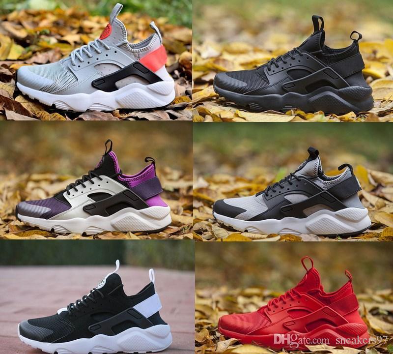 2019 Sommer Nike Air Huarache 4 IV 4.0 Ultra Outdoor Schuhe Huaraches Trainer Männer und Frauen Turnschuhe Triple Huraches Huraches Größe 36 45