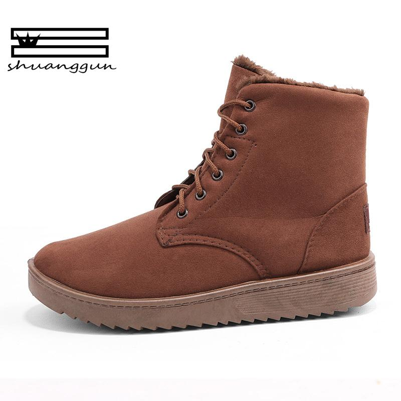 SHUANGGUN 2018 Men Boots Botas Masculina 2018 Fashion Warm Plus Cotton  Ankle Boots Autumn Winter Boots Men Shoes Men Size 39-44 Online with   71.43 Pair on ... c819677160c0
