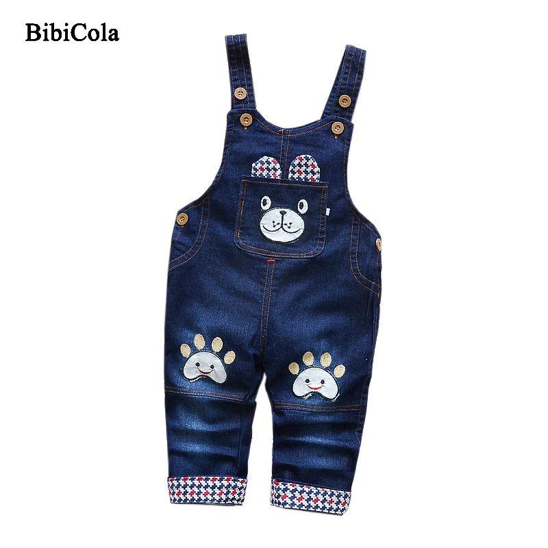 1781c7418 Good Quality Cartoon Children Girls Jeans Pants Bib Classical Straps Cowboy  Trousers Baby Boys Pants Spring Unisex Kids Clothing Girls Super Skinny  Jeans ...