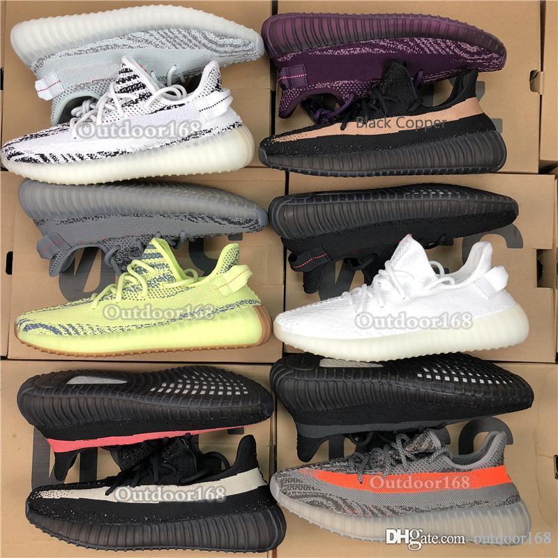 official photos b07b5 6e0d9 Adidas Yeezy Boost 350 V2 La Mejor Calidad Kanye West V2 Para Hombre  Zapatillas Crema Blanco Estático Amarillo Zebra Designer Shoes Sport  Sneakers Con Caja ...
