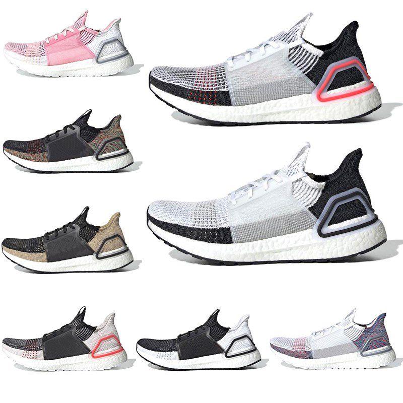 77e9da175 2019 2019 Ultra Boost 19 Running Shoes For Men Women Cloud White Black Dark  Pixel Refract Clear Designer Sneakers Ultraboost Sport Trainers 36 45 From  ...