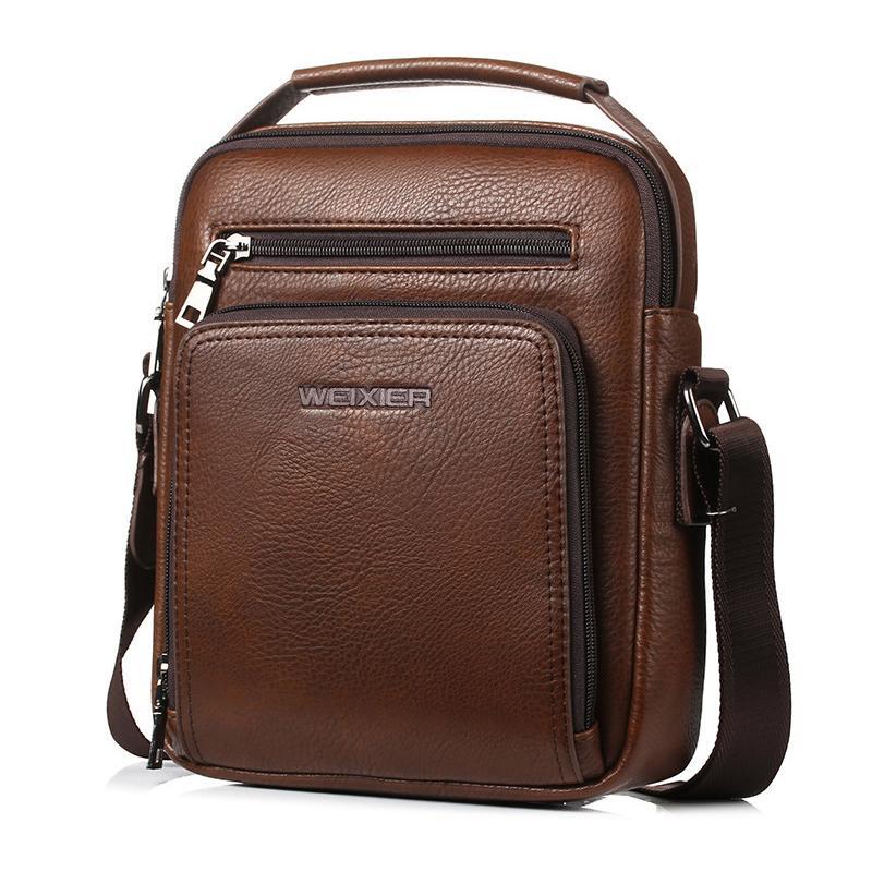 Pu Leather Messenger Bag Men S Shoulder Bags Male Crossbody Bag Vintage  Coffee Color Men S Crossbody Bag Bolsas Designer Bags Ladies Handbags From  Keeping03 ... 8bac968f33043