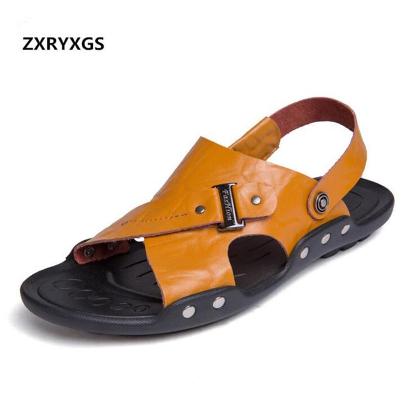 Doble Verano 2019 De Para Planas Cuero Uso Vendidos Nuevos Antideslizantes Zapatillas Hombres Zapatos Más Sandalias 8nPXwk0O