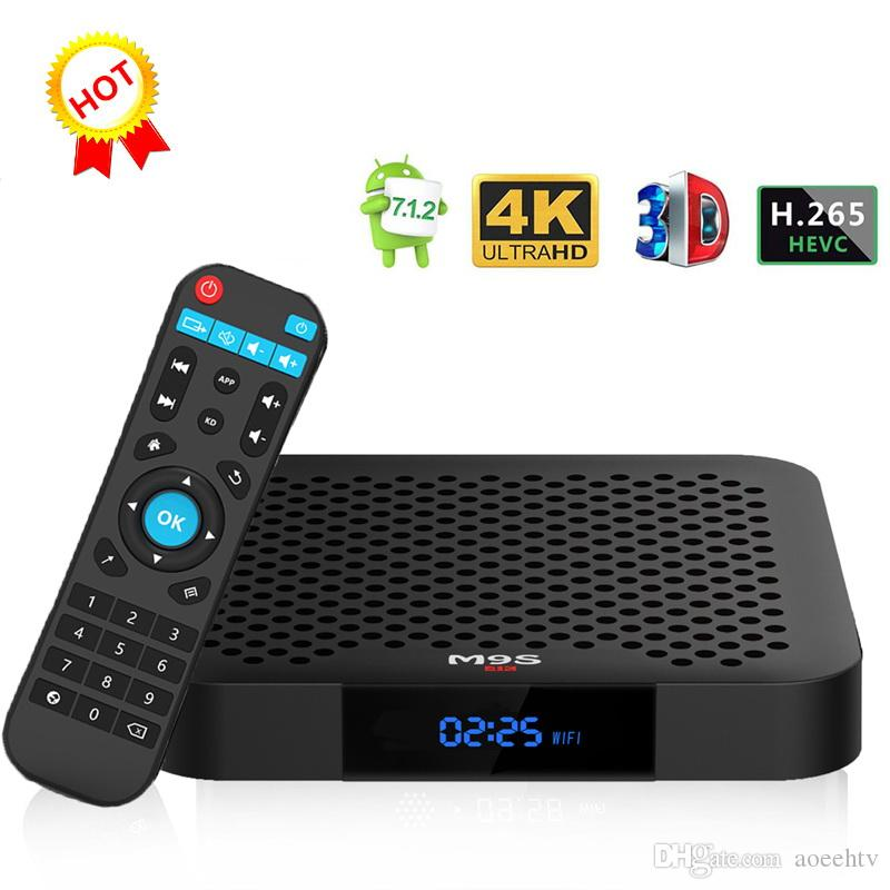 1 PCS M9S W2 Android 7 1 TV BOX Amlogic S905W 2GB 16GB Quad Core HD 4K WiFi  Smart Streaming Media Player Better HK1 Max H96 MAX TX3 S9 PRO