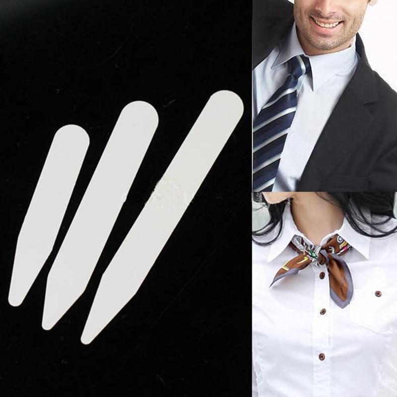 Plastic White Collar Stays Stiffeners Bones for Mens Dress Formal Shirt Gift 400pcs/lot
