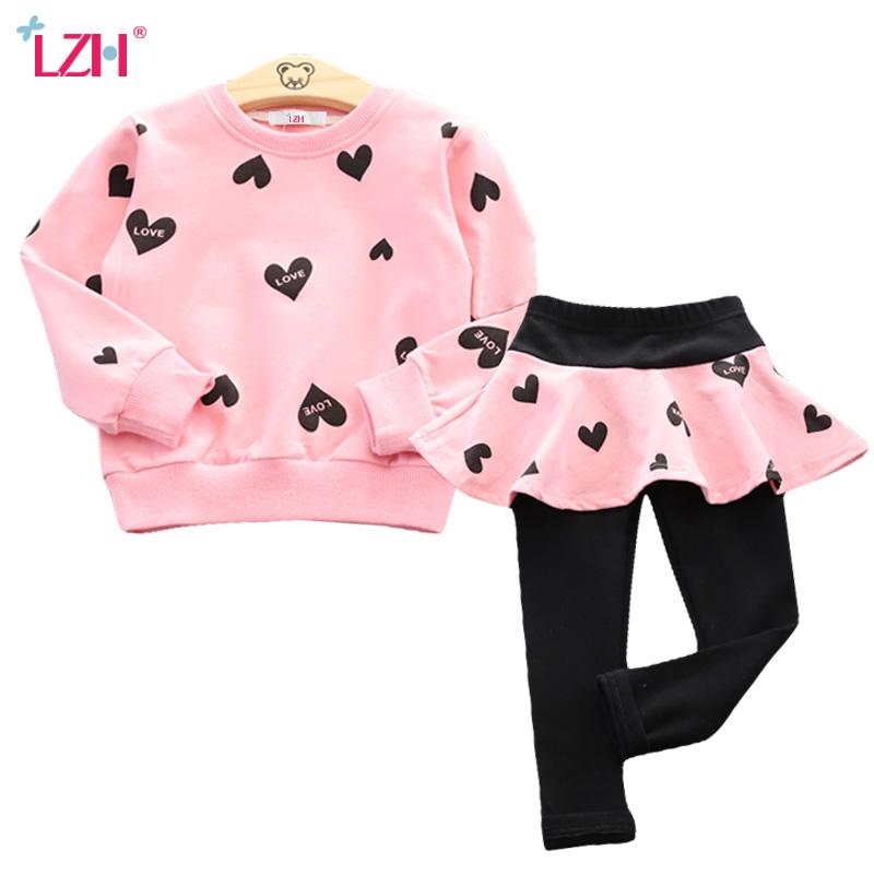 Children Clothing 2019 Autumn Winter Toddler Girls Clothes T-shirt+Pants 2pcs Outfits Kids Clothes Suits For Girls Clothing Sets