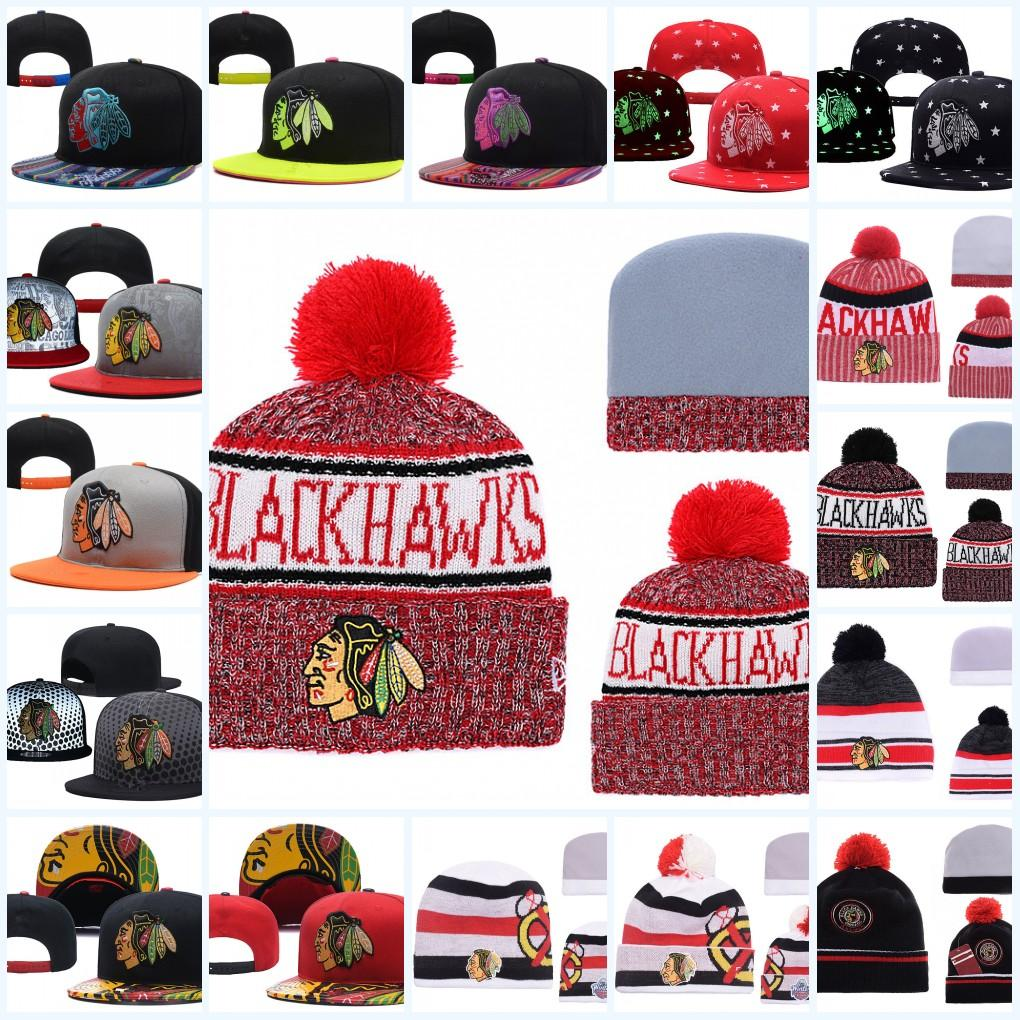 70672515d59 2019 Chicago Blackhawks Snapback Caps Adjustable Hat Black White Red Grey  Chicago Black Hawks Knit Hat Beanies Caps From Xt23518