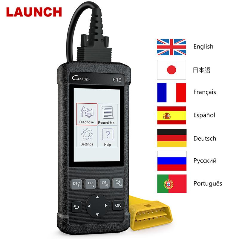 Launch X431 CR619 OBD2 Scanner ABS Airbag Fault Code Read ODB2 Diagnostic  Tool Clear DTCs OBD2 Automotive Scanner