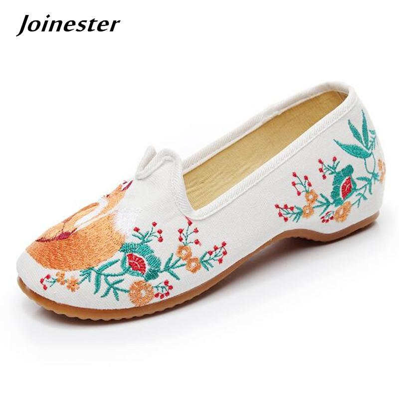 d92c036e32e1 Designer Dress Shoes Versatile Women Summer Pumps Ethnic Embroider Casual Ladies  Loafers Canvas Wedges For Girls Dancing Shoe Moccasin Mens Boots Shoe From  ...