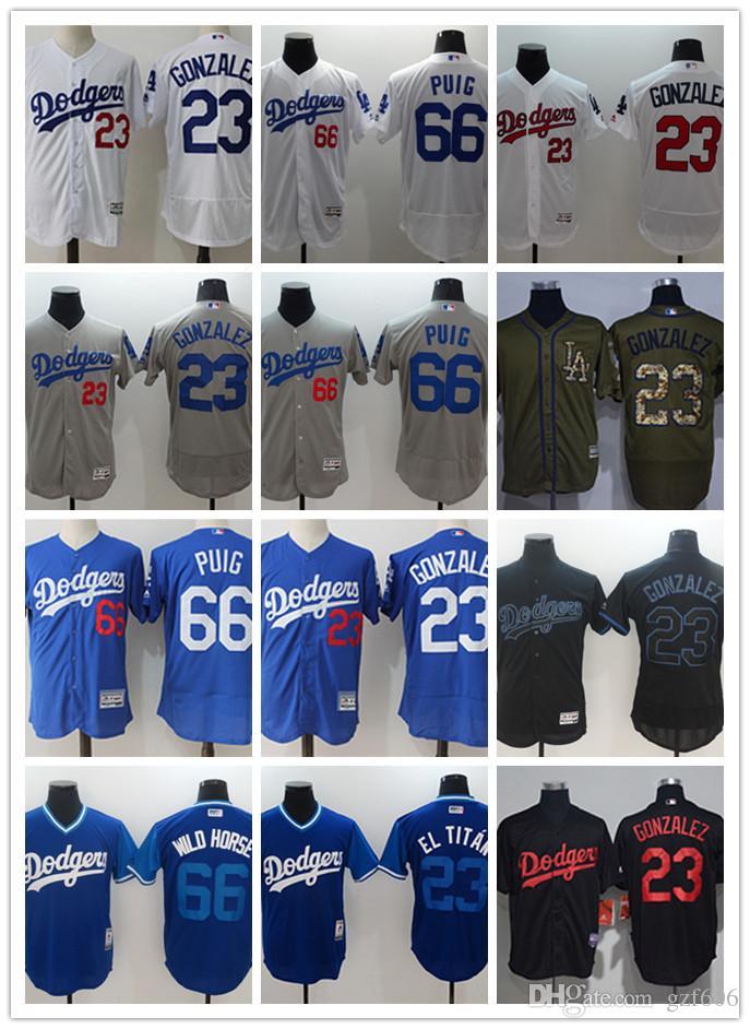 6fc2e3786 2019 Custom Men S Women Youth Los Angeles Dodgers Jersey  23 Adrian Gonzalez  66 Yasiel Puig 99 Hyun Jin Ryu Blue Grey White Baseball Jerseys From  Gzf606