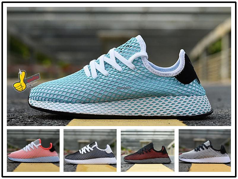 ad24245a04740 2019 Deerupt Runner Shoes Pharrell Williams Stan Smith Tennis HU KPU  Designer Mesh Casual Zapatos Trainers Chaussures Women Shoe 36 45 I Loafers  For Men Red ...