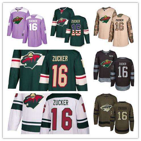newest 152b9 2f2ff Minnesota Wild jerseys #16 Jason Zucker Jersey hockey men women youth  Authentic green home white away Stiched Fanatics USA FLAG Jerseys