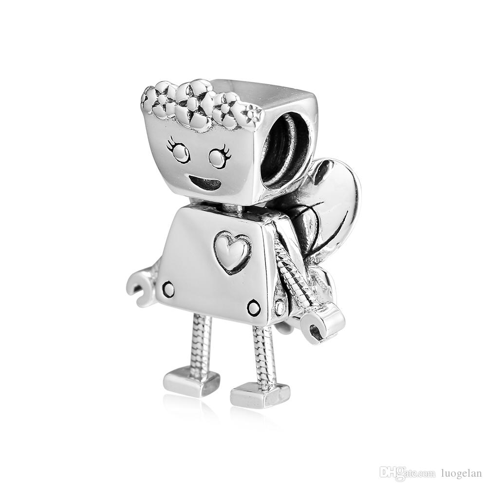 2019 Spring 925 Sterling Silver Jewelry Limited Edition Floral Bot Charm Original Beads Fits Pandora Bracelets Necklace For Women DIY Making