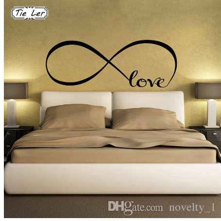 TIE LER Adesivi murali camera da letto Decor Infinity Symbol Parola Love  Vinyl Art Wall Sticker Decalcomanie Decorazione