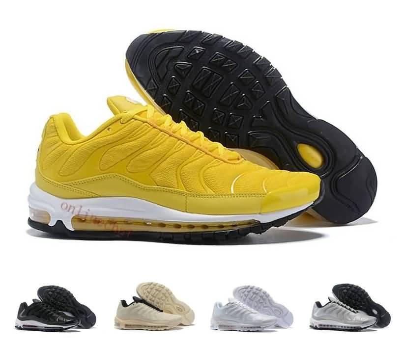 hot sale online ad401 a12cd Acquista 2019 Chaussures 97 Scarpe Da Corsa Di Alta Qualità Sport Donna 97s  Tn Giallo Blu Scarpe Da Ginnastica Rosse 97 Plus Sneakers Taglia 36 40 A   81.22 ...