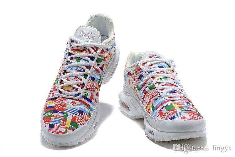 4651c3fb15 Satın Al Nike Air Airmax Max Plus Nic QS One World 2018 TN Artı NIC QS 90  Uluslararası Bayrak Erkek Kadın Koşu Ayakkabı Dünya Kupası Sınırlı NIC QS  Sneakers ...