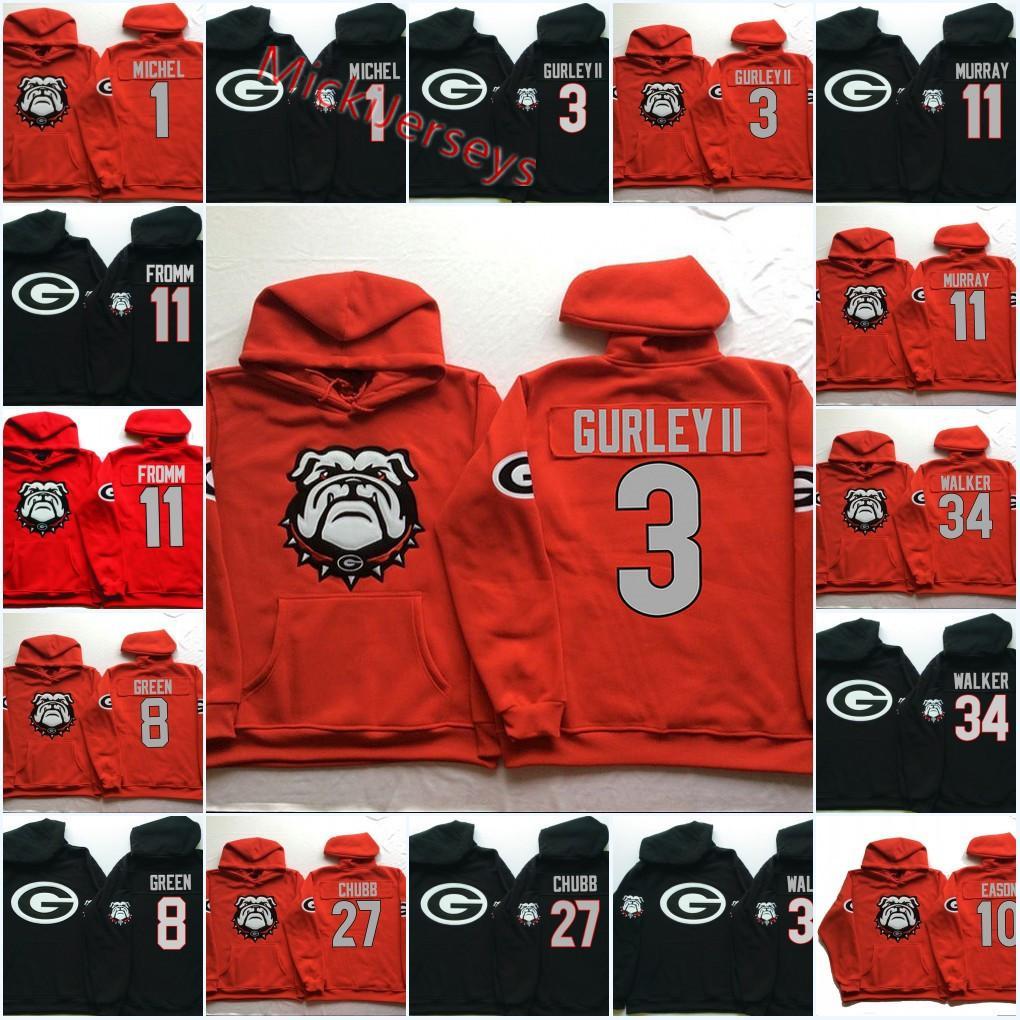 buy online 9573e 2ab2f NCAA Georgia Bulldogs Todd Gurley II hoodie Champ Bailey Herchel Walker  Nick Chubb Sony Michel Matthew Stafford Aaron Murray Bulldogs hoodie