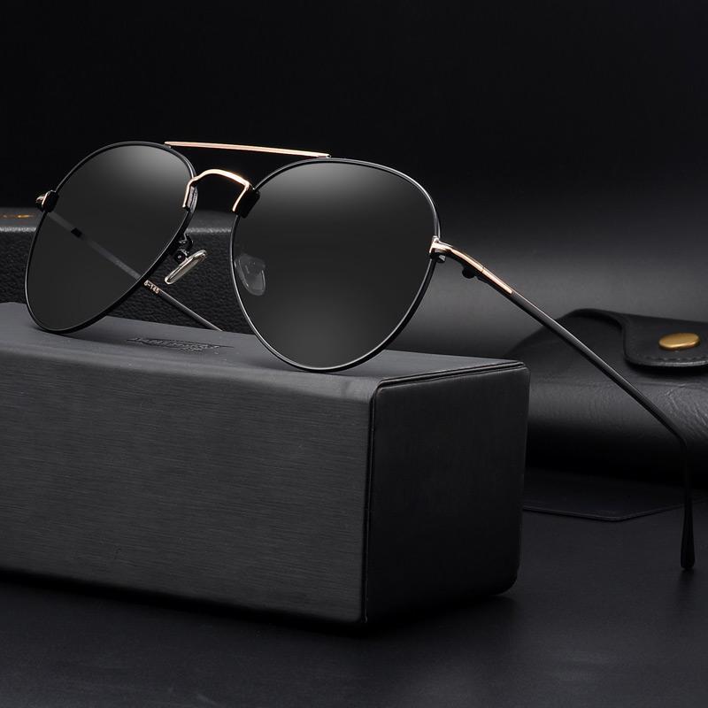 22bef4502b4b Metal Designer Sunglasses Men Polarized Driving Glasses for Man ...