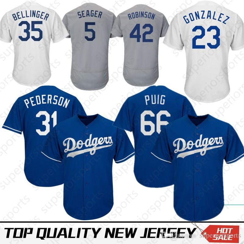 2019 35 Cody Bellinger Los Angeles Dodgers Jersey 66 Yasiel Puig 22 Clayton  Kershaw 3 Chris Taylor 5 Corey Seager 10 Justin Turner 14 Hernandez From ... b1dd5dfb8d0