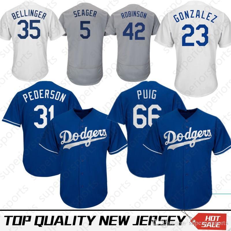 quality design 6a127 2c7a0 35 Cody Bellinger Los Angeles Dodgers Jersey 66 Yasiel Puig 22 Clayton  Kershaw 3 Chris Taylor 5 Corey Seager 10 Justin Turner 14 Hernandez