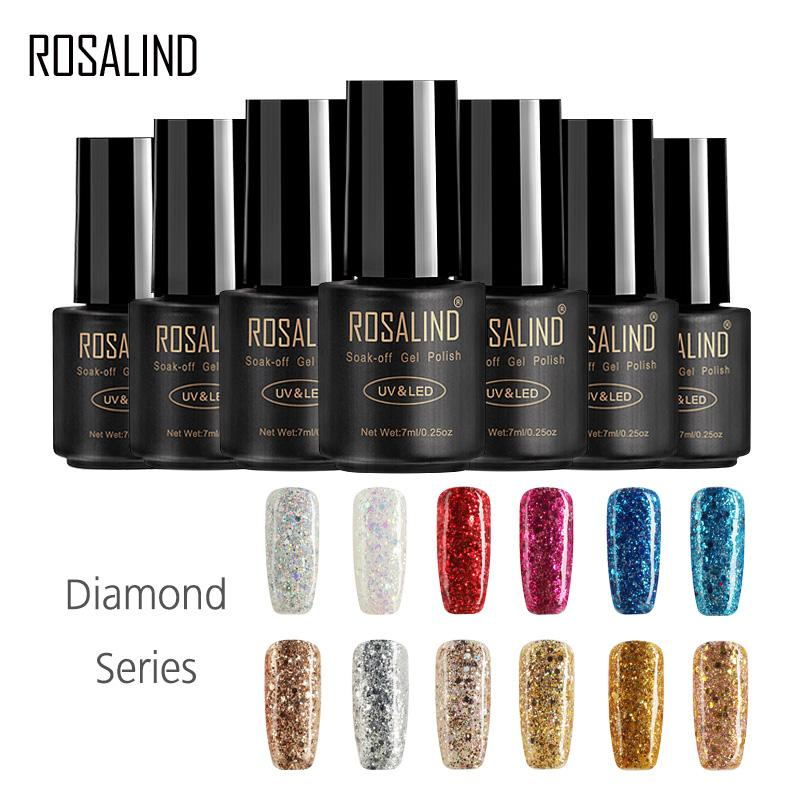 ROSALIND gel Nail Polish 7ML Diamond Series Varnish Hybrid Nail Art polacco semi permanente Soak Off Gel lampada UV lacca
