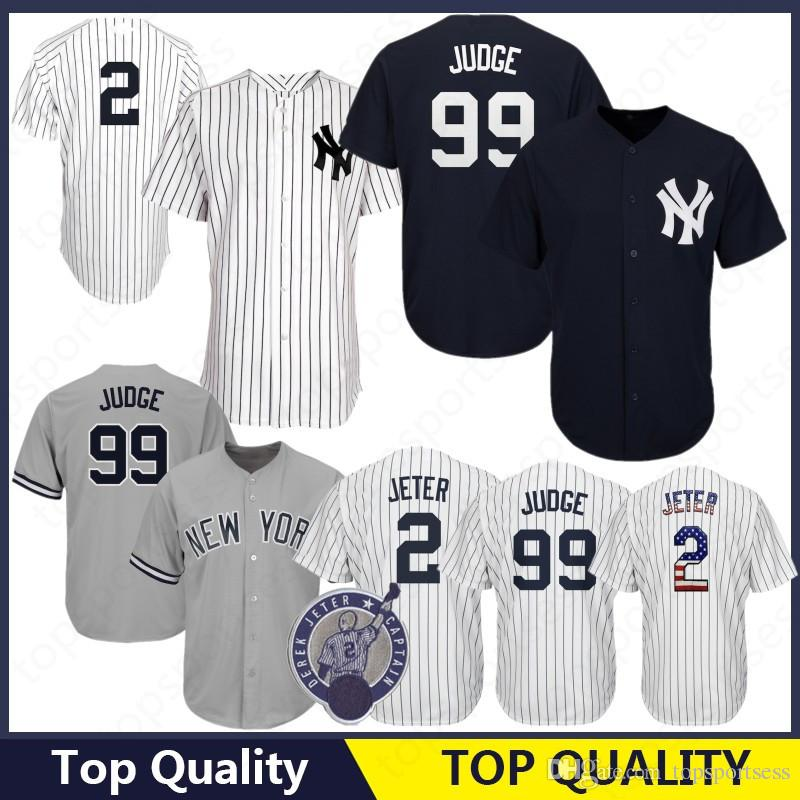 new arrivals 922fb b9629 New York Yankees 99 Aaron Judge Jersey 2 23 Don Mattingly 3 Babe Ruth 7  Mickey Mantle 42 Mariano Rivera 51 Bernie Williams 27