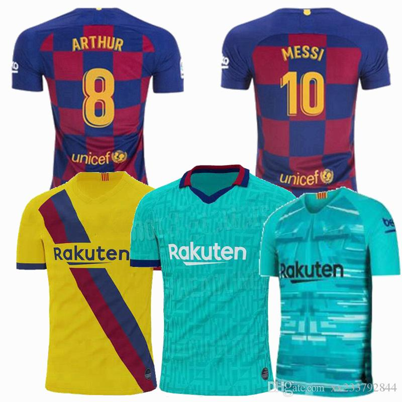 size 40 ba9b5 e2db4 Barcelona Messi soccer jersey PIQUE ARTHUR VIDAL SUAREZ MESSI 2019 2020  football training shirt 19 20 uniforms men kids women jerseys