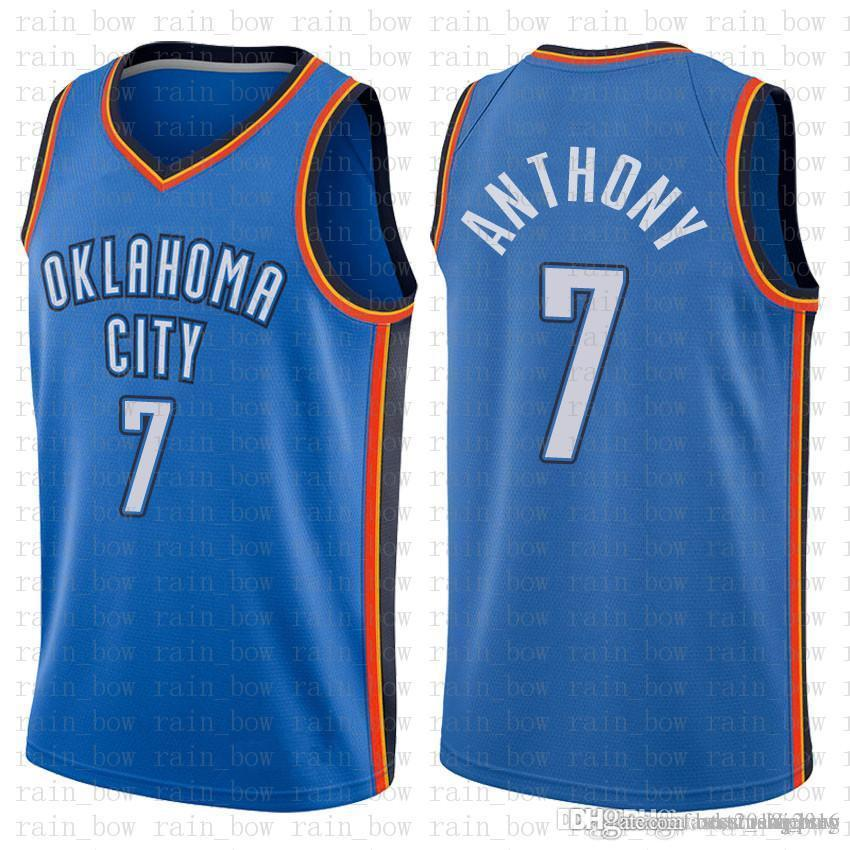 3fdbd75c5 ... where to buy 2019 9.99 cheap sale oklahoma city 7 carmelo anthony  thunder basketball jerseys mens