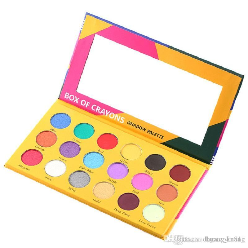 Hot Sale High Quality Palette!BOX OF CRAYONS Cosmetics Eyeshadow Palette 18 Colors Eyeshadow Palette Shimmer Matte EYE beauty
