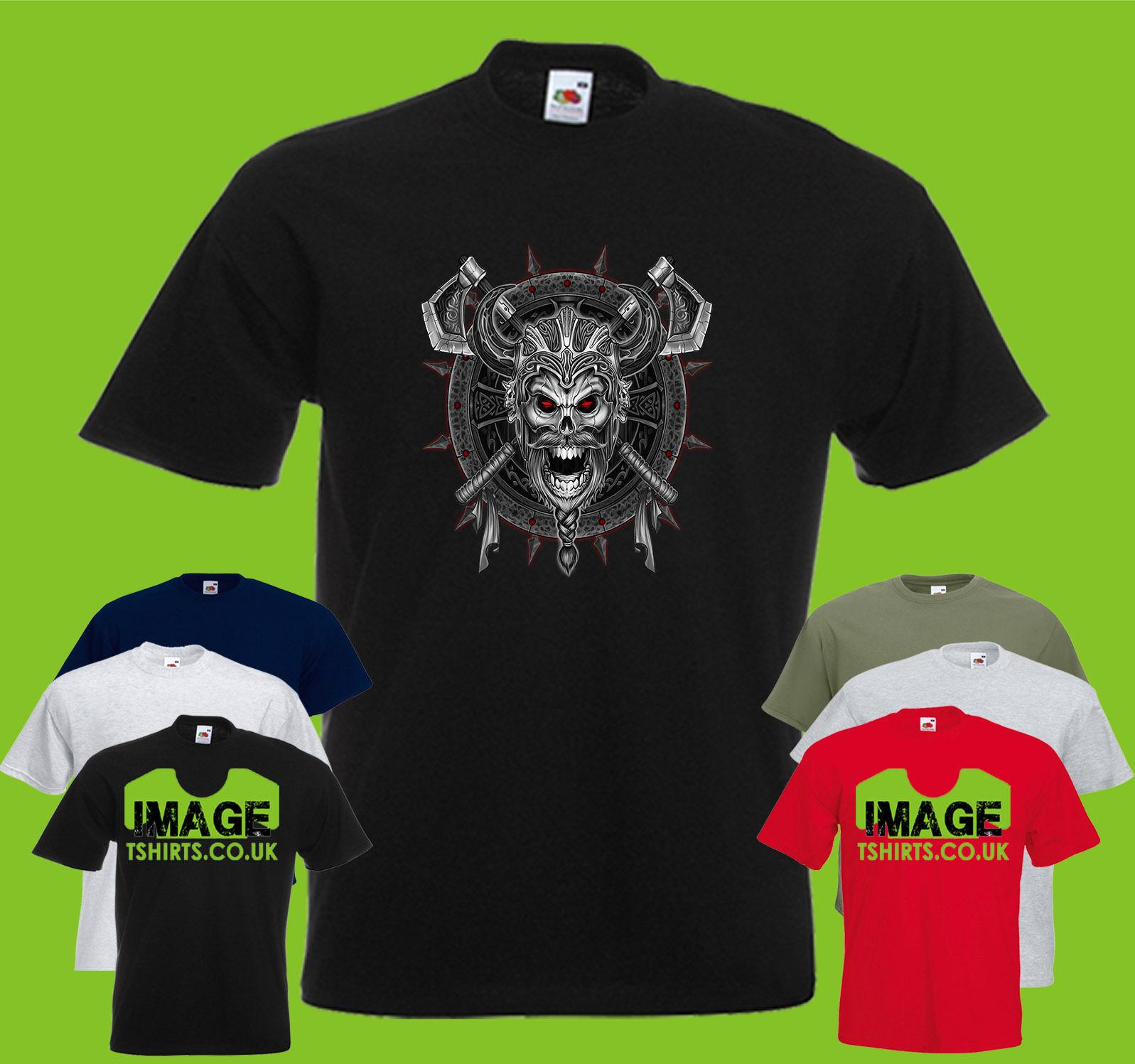 1bb22046 Viking Mens PRINTED T SHIRT Skull Skeleton Old School Axes Funny Casual Tee  Design And Order T Shirts Gag T Shirts From Fatcuckoo, $12.96| DHgate.Com