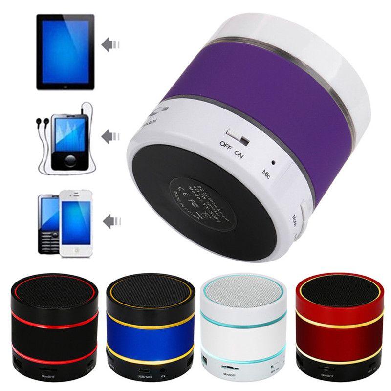 Hot LED Speaker S09 Enhanced Speaker 3 LED Light Ring Super Bass Mini Portable Beat Hi-Fi Bluetooth 4.0v Handfree
