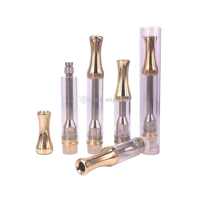 batteria da 510 fili Nessuna cartuccia di Vape Leak ricaricabile Penna vaporizzatore AC1003 Serbatoio di vetro Olio denso Atomizzatore Carrelli esotici