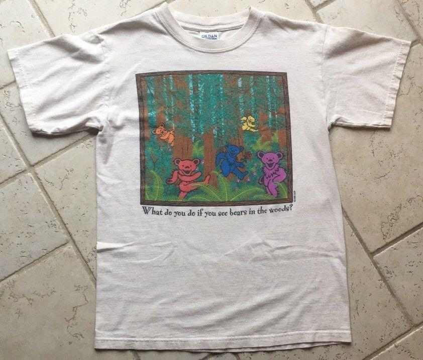 939fc700220 Grateful Dead Vintage 90s T Shirt BEAR IN THE WOODS  PLAY DEAD  TOP !!  Newest Top Tees