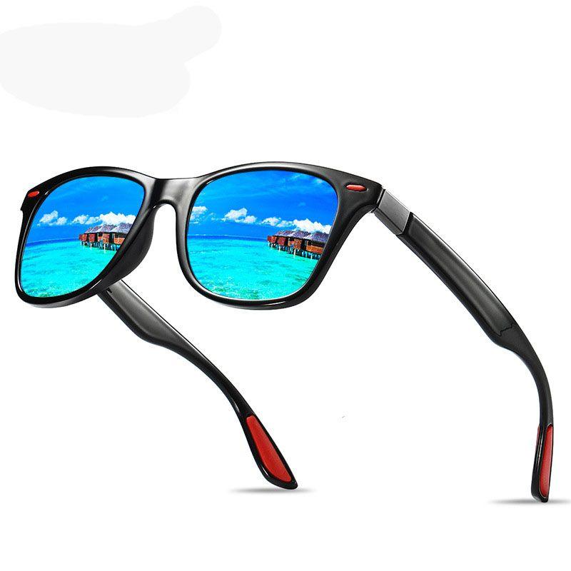 8a8646a7295 Polarized Sunglasses Men Women Driving Square Frame Sun Glasses Male ...