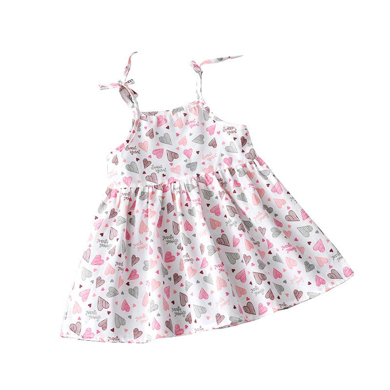 533617701e8f5 2019 1 5 Years Kids Girl Sling Dresses Summer Chidlren Clothes Toddler  Girls Dress Baby Cotton Sleeveless Print Flower Princess Dress From Bradle,  ...