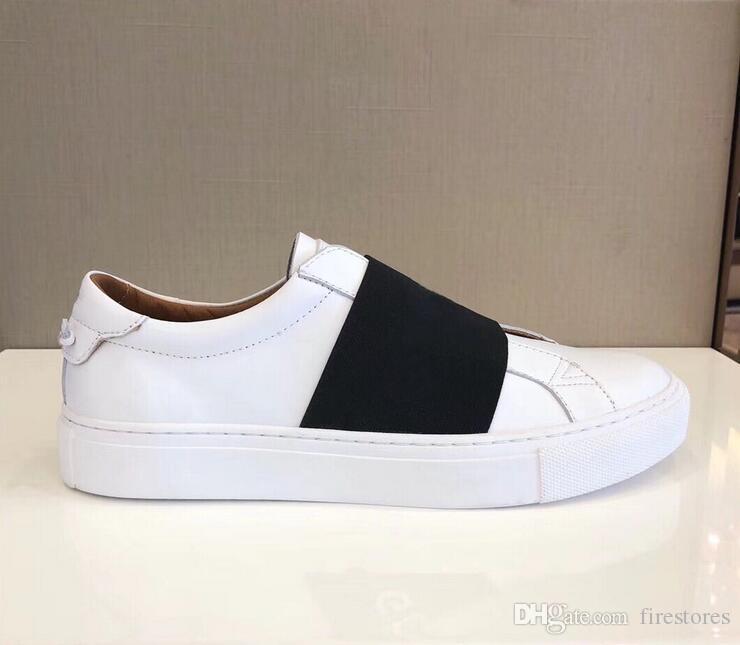 c9e2095dd Compre Nuevos Zapatos De Diseñador De Moda Cuero Hombre Mujer Zapatillas De  Deporte Zapato Plano Casual Con Banda Elástica Zapato Mujer Mujer Niño  Zapato ...