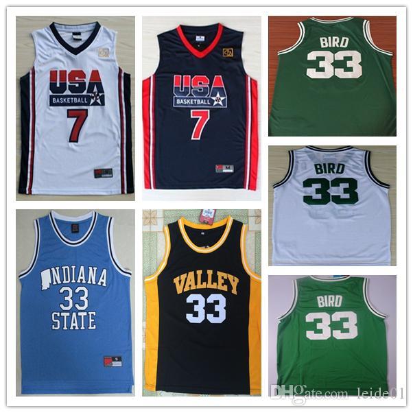 Compre 2019 Homens 33 Larry Bird Camisa De Basquete c0a88e603da75