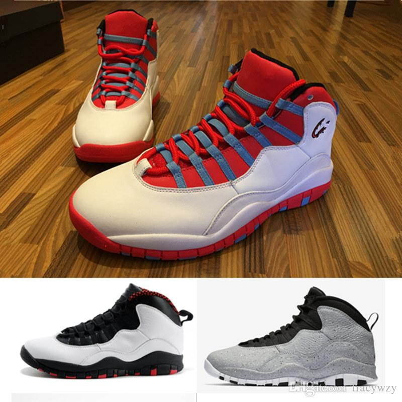quality design aca5e 6c08d 2019 white red basketball shoes 10 10s Bobcats Grey red Cool grey iam back  Powder blue basketball sneakers with box