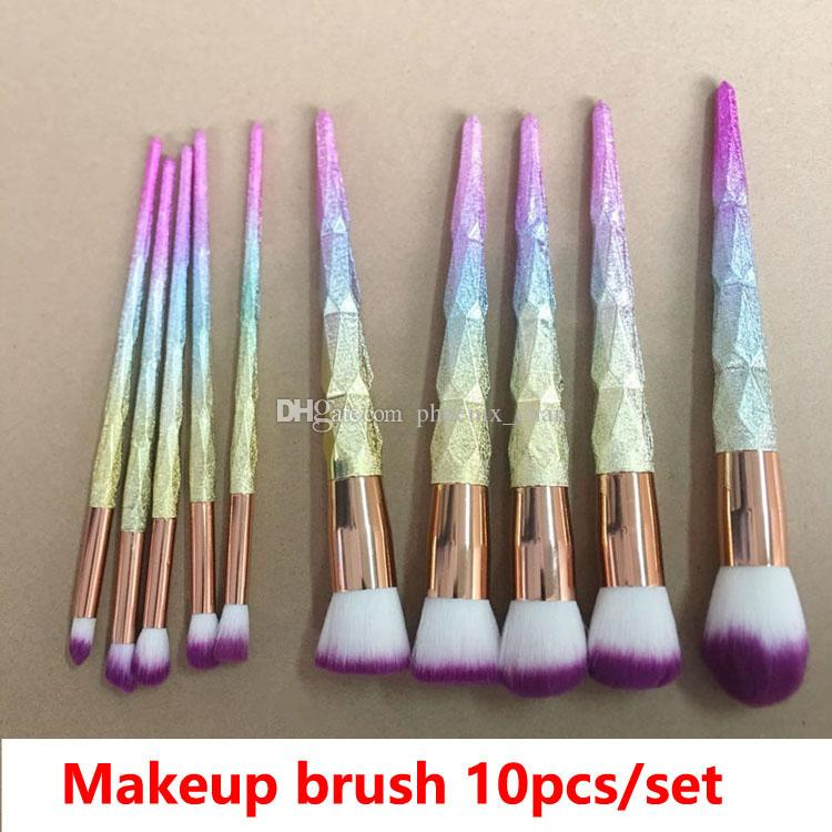 Makeup Brushes Frosted Handle 3D Dazzle Glitter Foundation Powder Makeup Brush Set Blush Eye Shadow MakeupBrush Makeup Artists Makeup Boxes From ...