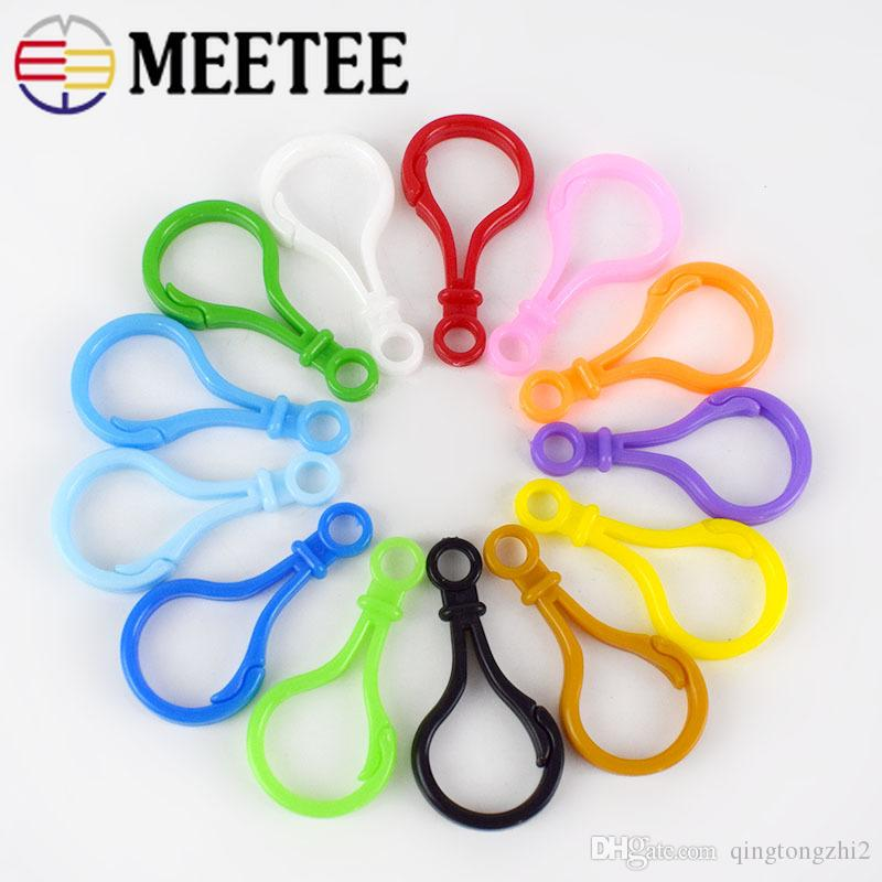 Meetee mix colors Plastic lamp style Key Chain buckles Snap hook Lobster Clasp DIY handmade toy doll tool F7-3