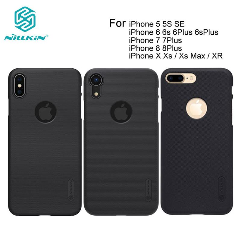 Carcasa Sfor iPhone 7 XR X Xs Carcasa Nillkin Frosted Shield PC Hard Back para iPhone 8 7 Plus 5S 5 SE 6 6S Plus