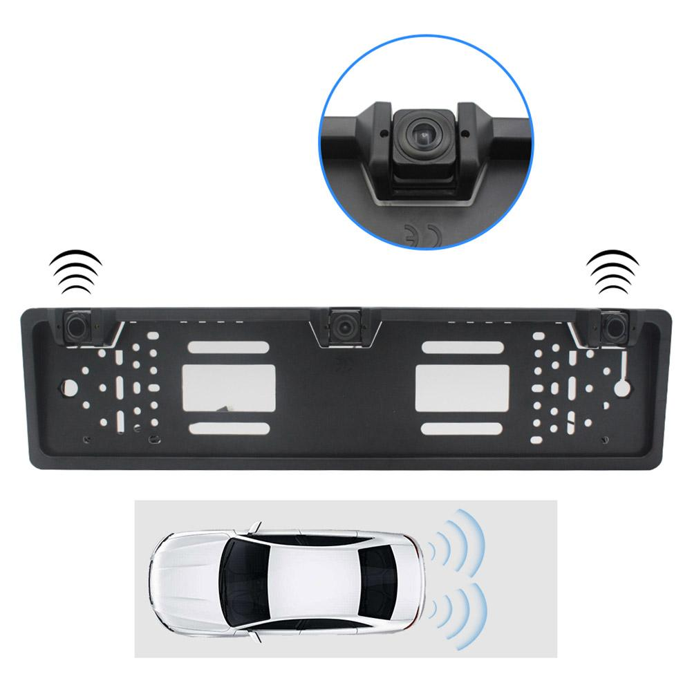 EU Reversing sensor Car License Plate Frame Rear View Camera Reverse Backup Camera
