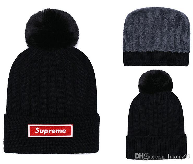 b0c5c3ccd04 2019 Winter Fashion Men Beanie Women Knitted Hat Casual Sports Cap Keep Warm  Ski Gorro Top Quality Beanies Bonnet Classical Polo Skull Caps Bucket Hats  ...