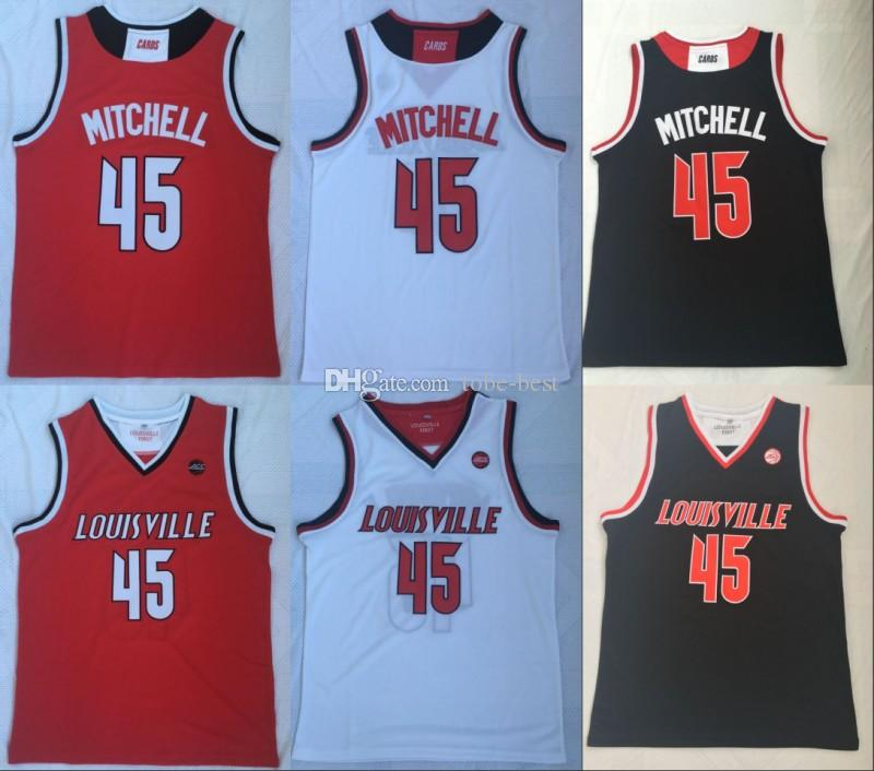 Best College Basketball Uniforms 2019 2019 2019 NCAA New Louisville Cardinals Donovan 45Mitchell College