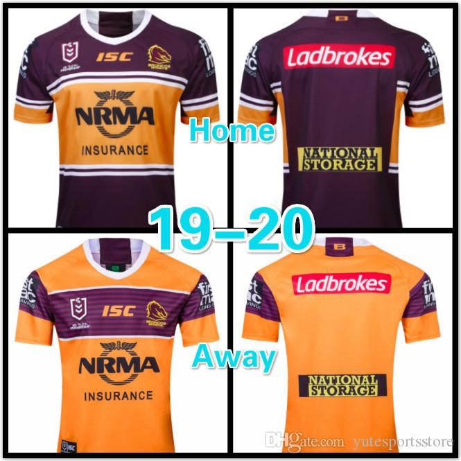 c8e2b39f 19-20 Rugby League NRL Brisbane Broncos 2019 home jersey Brisbane Broncos  2019 away jersey size: S-3XL