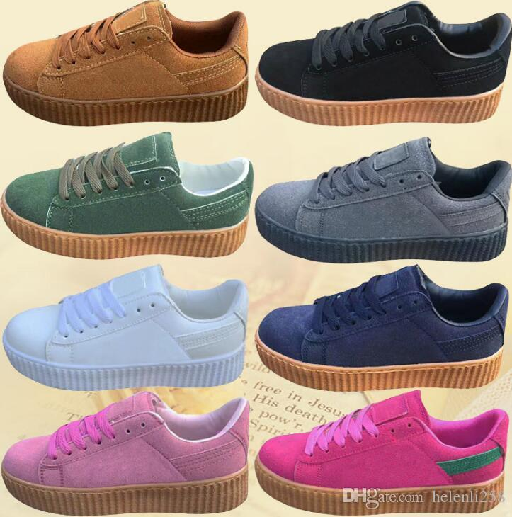 New Factory Price Sneakers Charity Fenty Suede Cleated Creeper Womens Fenty  Creepers By Rihanna Shoes Casual Shoes SIZE 35 44 Blue Shoes Clogs For Women  ... 3d57e2b15