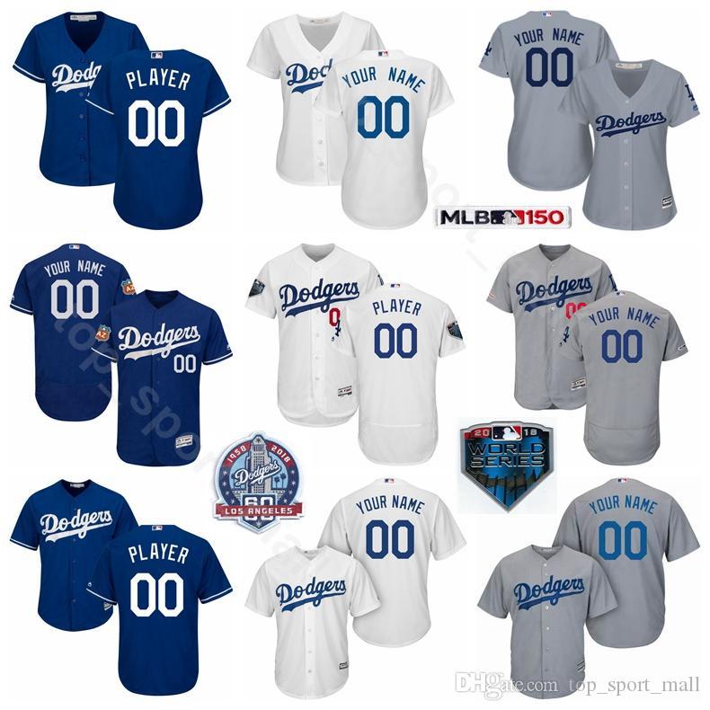 sale retailer bf260 3fe3f Men Women Kids Baseball Dodgers Cody Bellinger Jersey Corey Seager Enrique  Hernandez Max Muncy Hyun-Jin Ryu Fernando Valenzuela Maury Wills