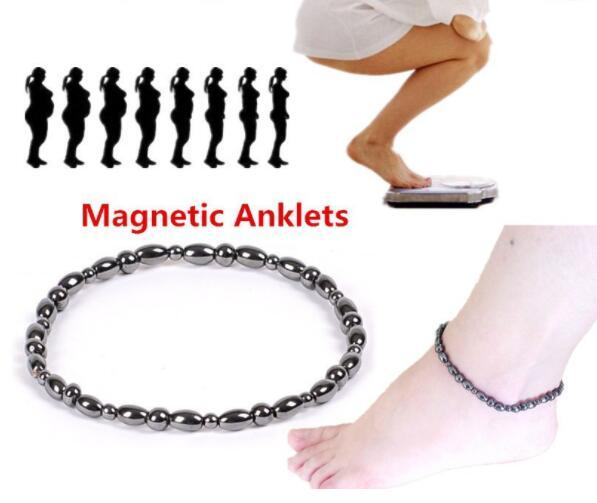DHL Women Fashion Foot Bead Chain Magnetic Therapy natural Stone Ankle Bracelet Beach Barefoot Sandal Foot Anklet for women