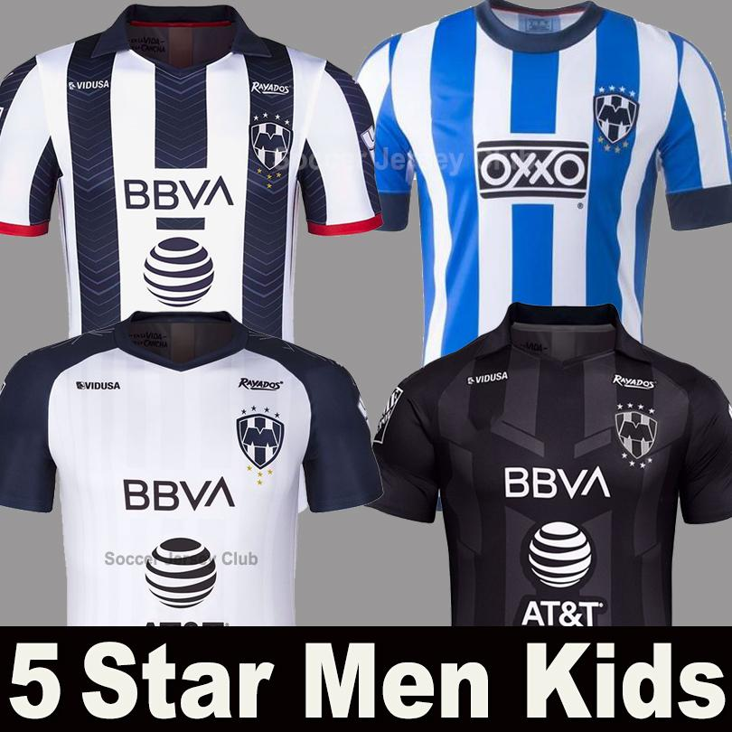 FUNES MORI PAVON rayados 2019 2020 liga mx Monterrey kids soccer jerseys 5 star GALLARDO SANCHEZ JANSSEN long sleeve football shirts kit